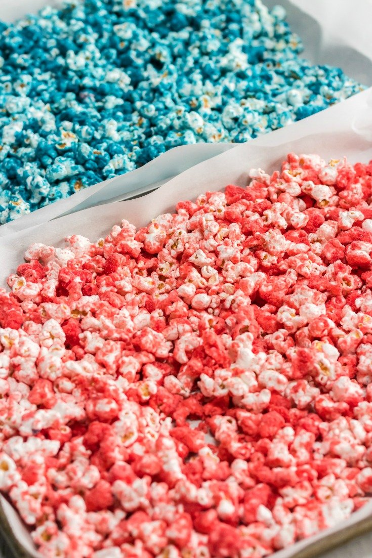 red and blue popcorn
