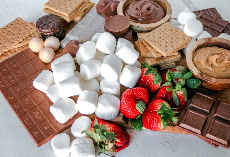 Smores Board Ingredients