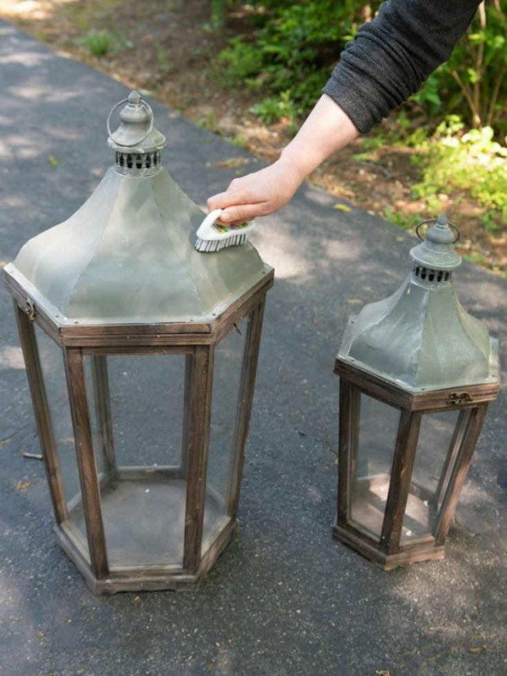 clean wood lanterns