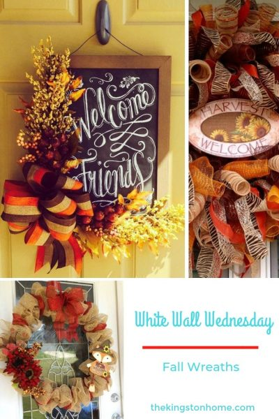 White Walls Wednesday – Fall Wreaths - The Kingston Home