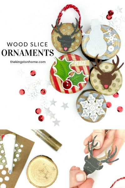 Xyron + Faber-Castell = Wood Slice Christmas Ornaments - The Kingston Home