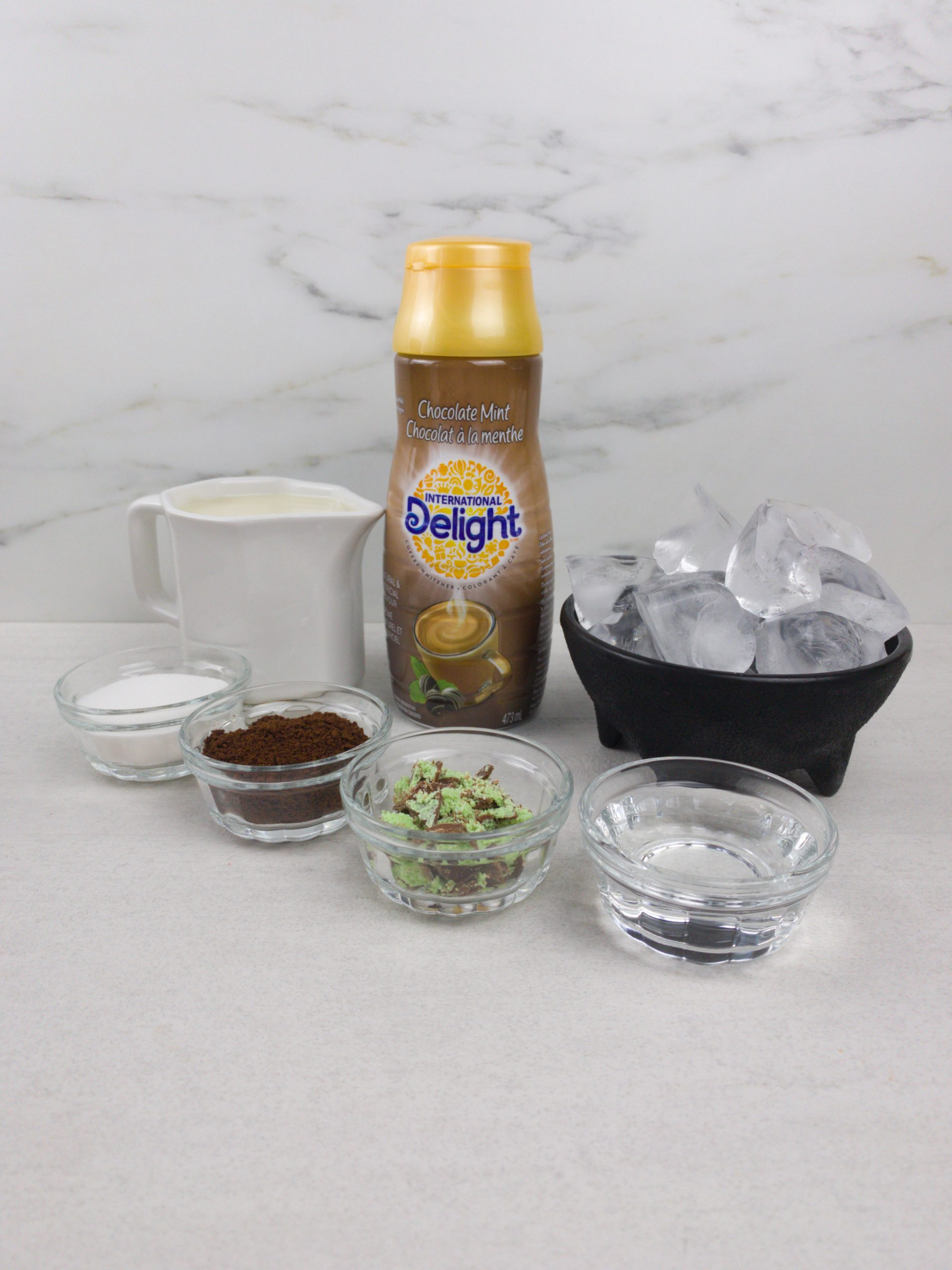 Chocolate Mint Dalgona Coffee Ingredients