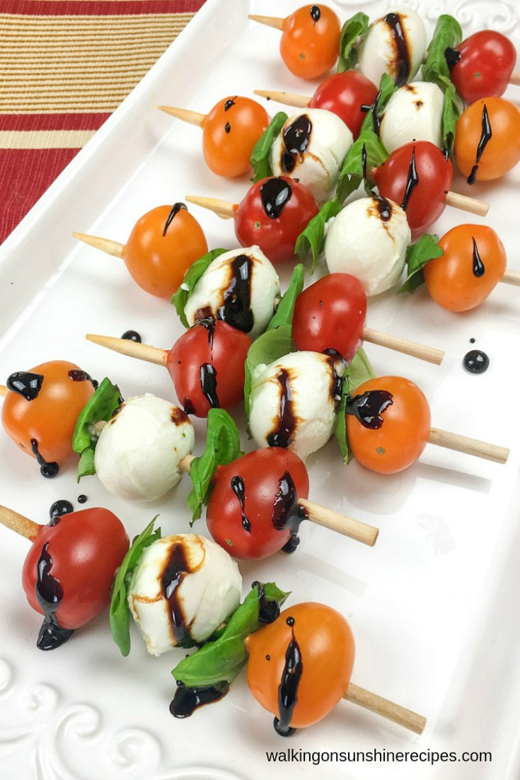 Caprese Skewers by Walking on Sunshine
