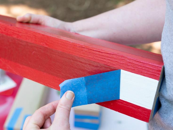 remove painters tape from wood  patriotic decorations