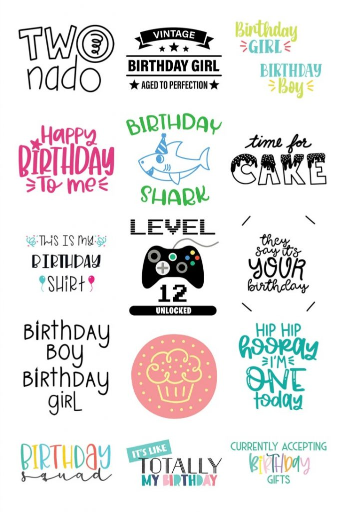 Birthday SVG Collage Files