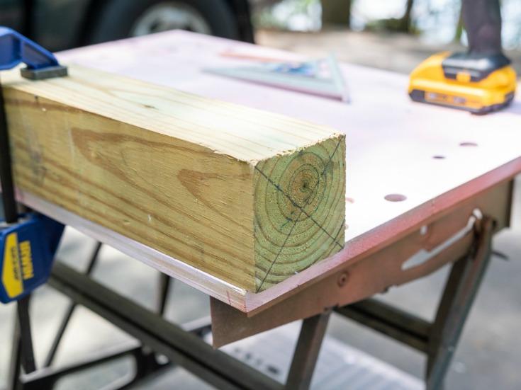 wood lumber on work table