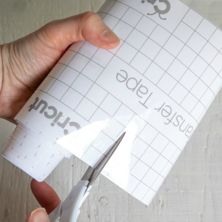 cutting cricut transfer tape