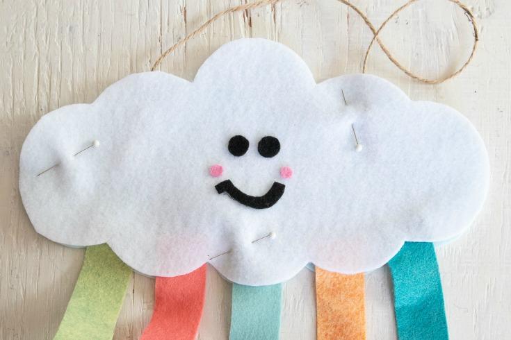 felt cloud pinned together