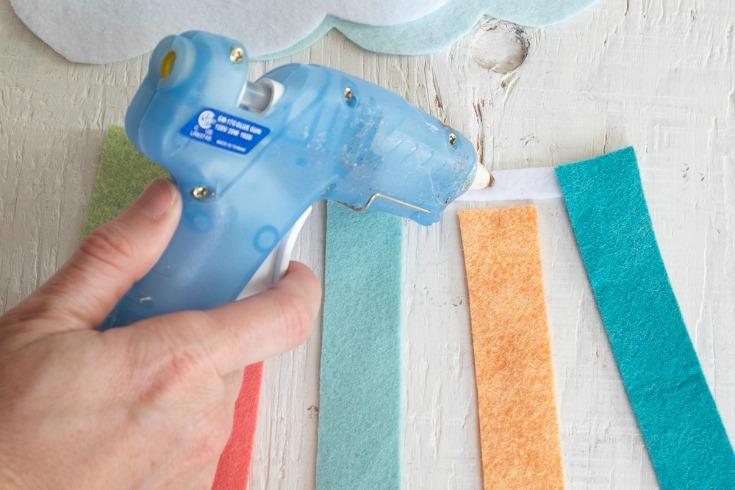 hot glue strips together