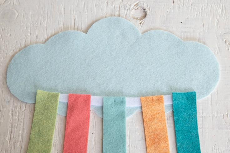 felt strips glued to cloud