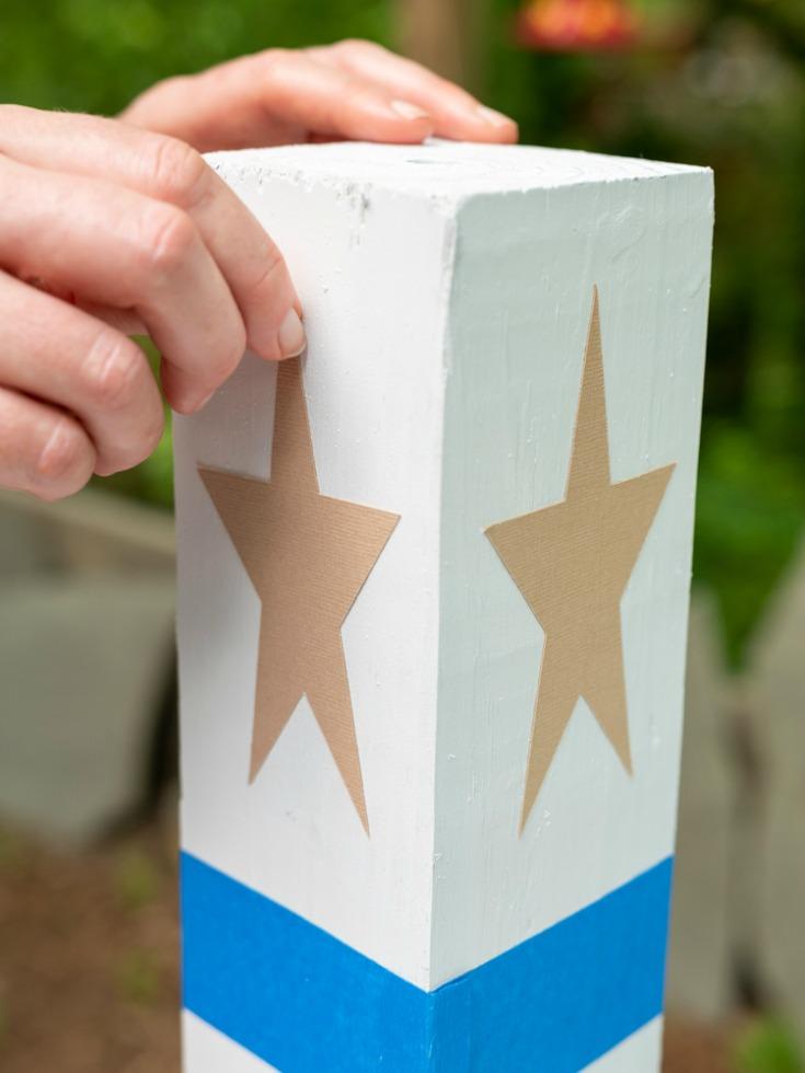 star on diy firecracker base