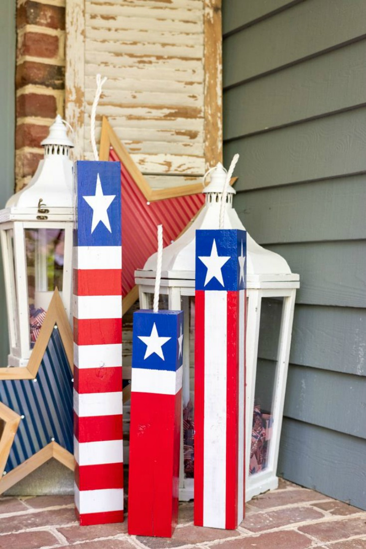 Patrioitc Decorations DIY Wood Firecrackers