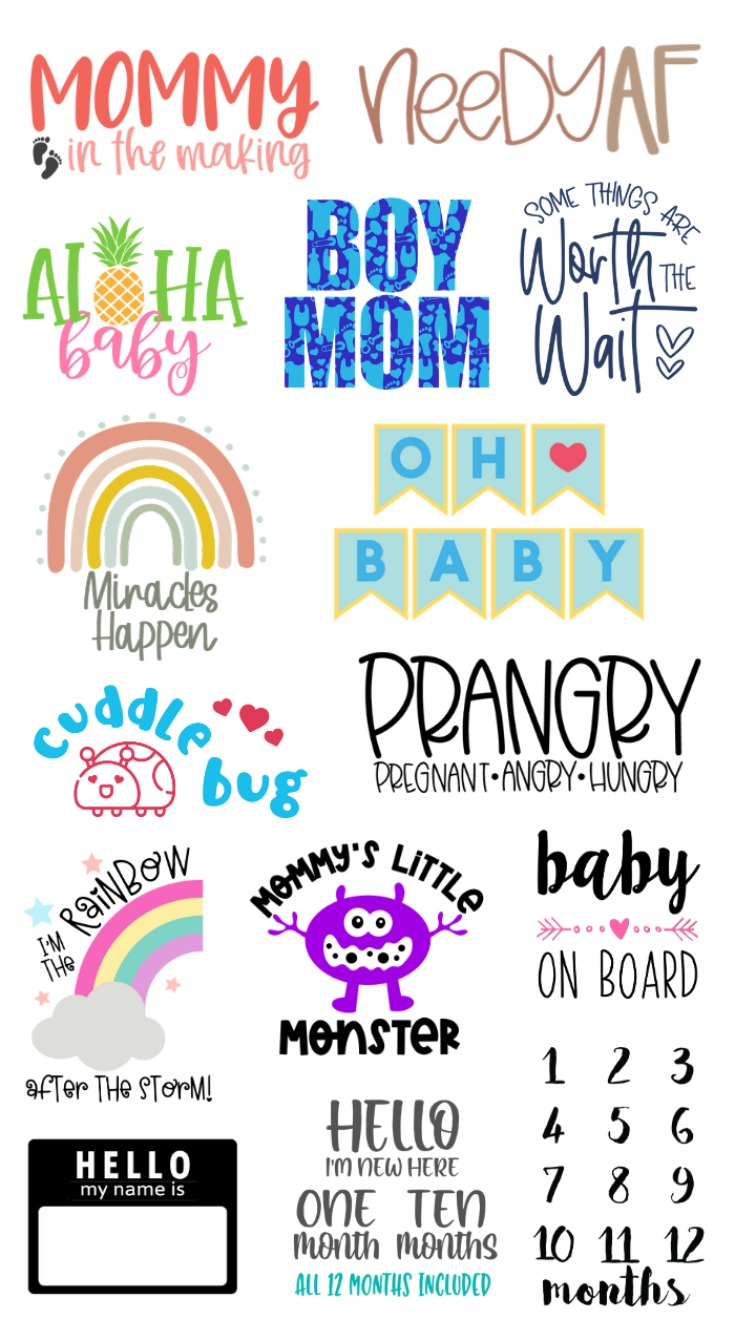 Baby Shower SVG