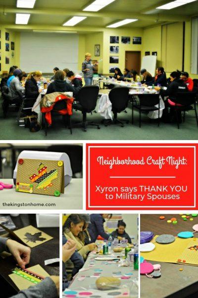 Neighborhood Craft Night Xyron says THANK YOU to Military Spouses - The Kingston Home