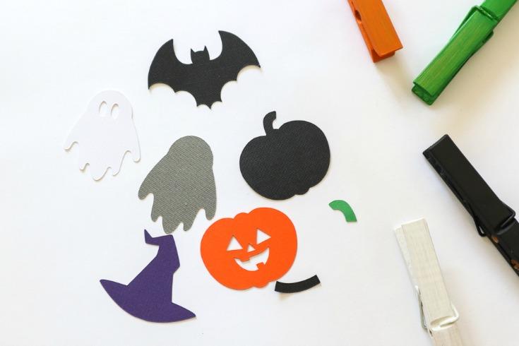 assembling halloween clothespins
