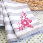 iron on vinyl tea towel