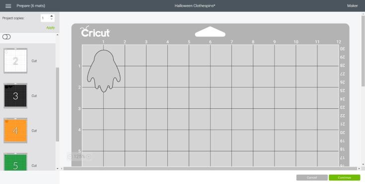 cutting ghost out in cricut design space