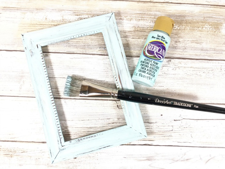 painting dollar store frame sky blue