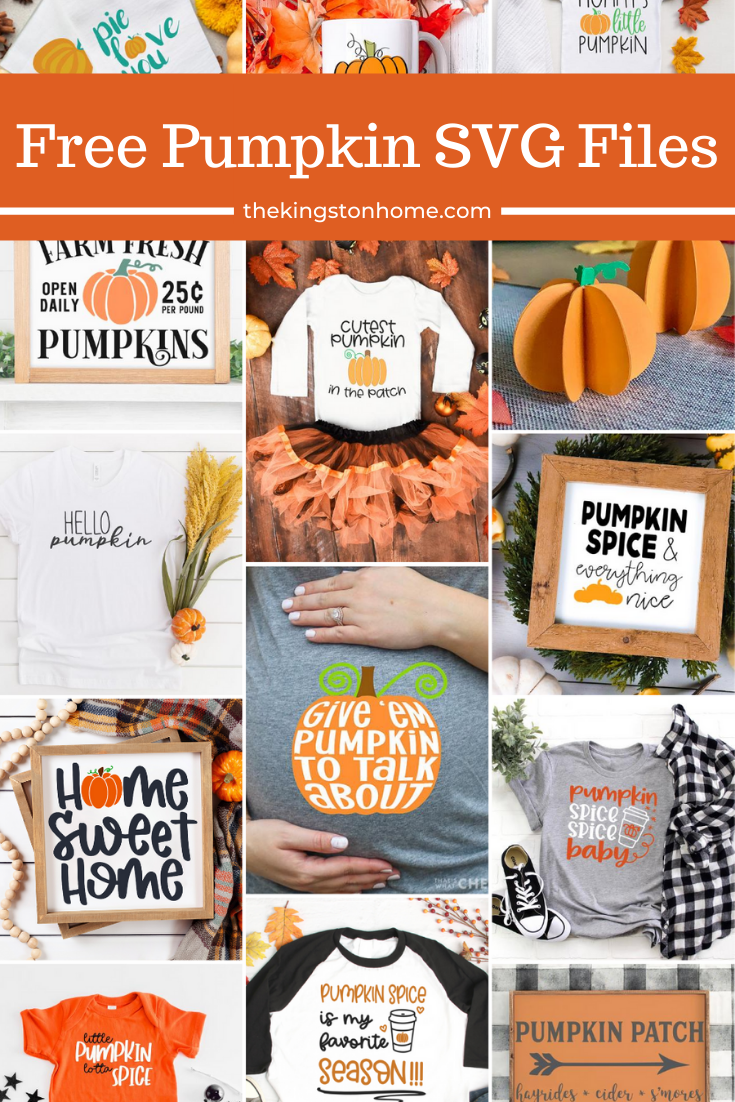 Free Pumpkin SVG Files - The Kingston Home: Pumpkin spice and everything nice! If you are ready for the Fall season, then check out our FREE pumpkin SVG files this month! via @craftykingstons