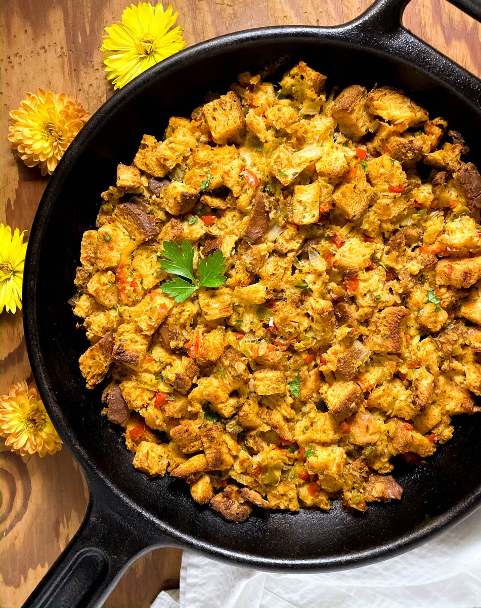 Cajun Style Gluten Free Stuffing by A Sprinkling Of Cayenne