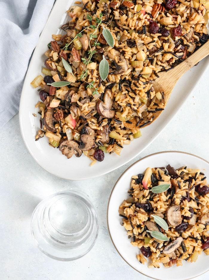 Wild Rice Vegan Mushroom by Detoxinista