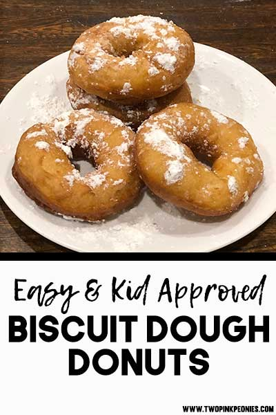 Canned Biscuit Dough Donuts