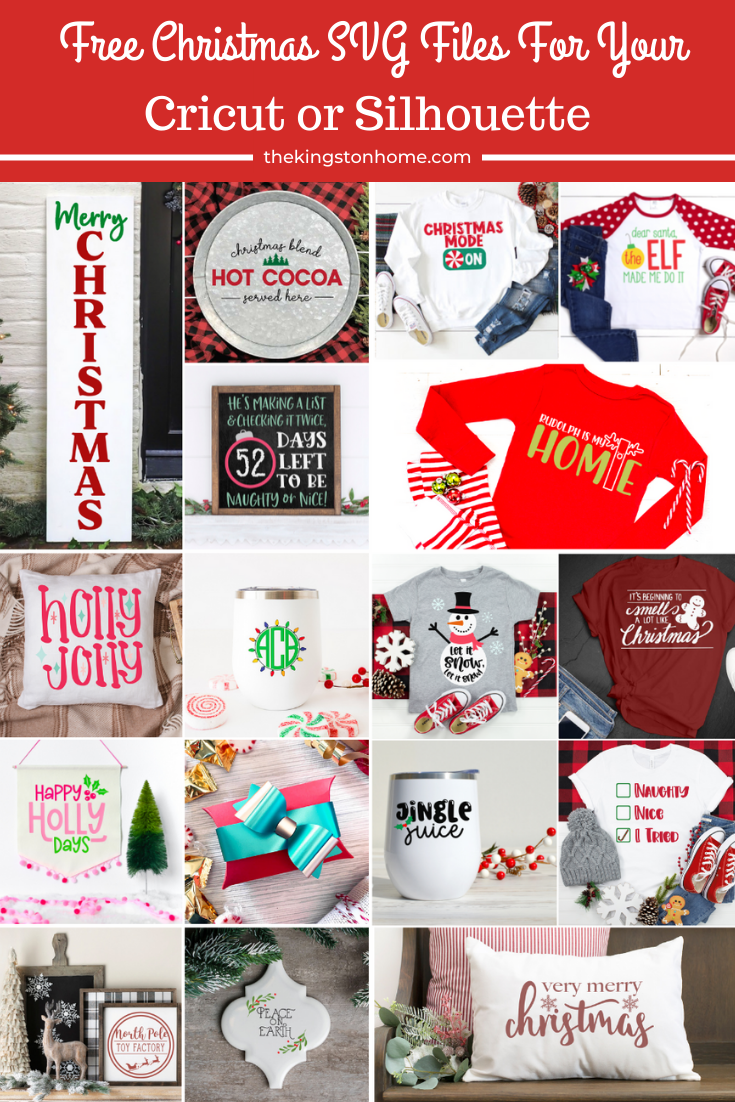 Free Christmas SVG Files for your Cricut or Silhouette - The Kingston Home: via @craftykingstons