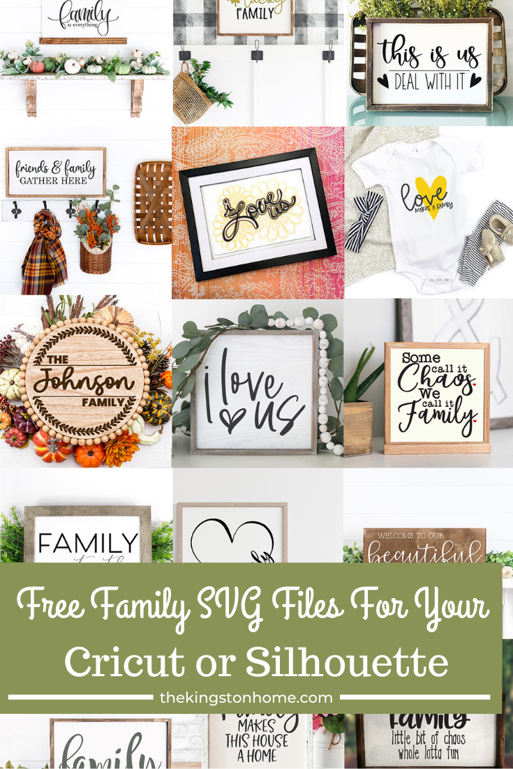 Free Family SVG Files For Your Cricut or Silhouette