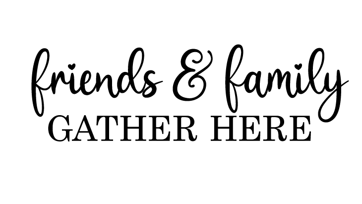 friends and family gather here SVG image
