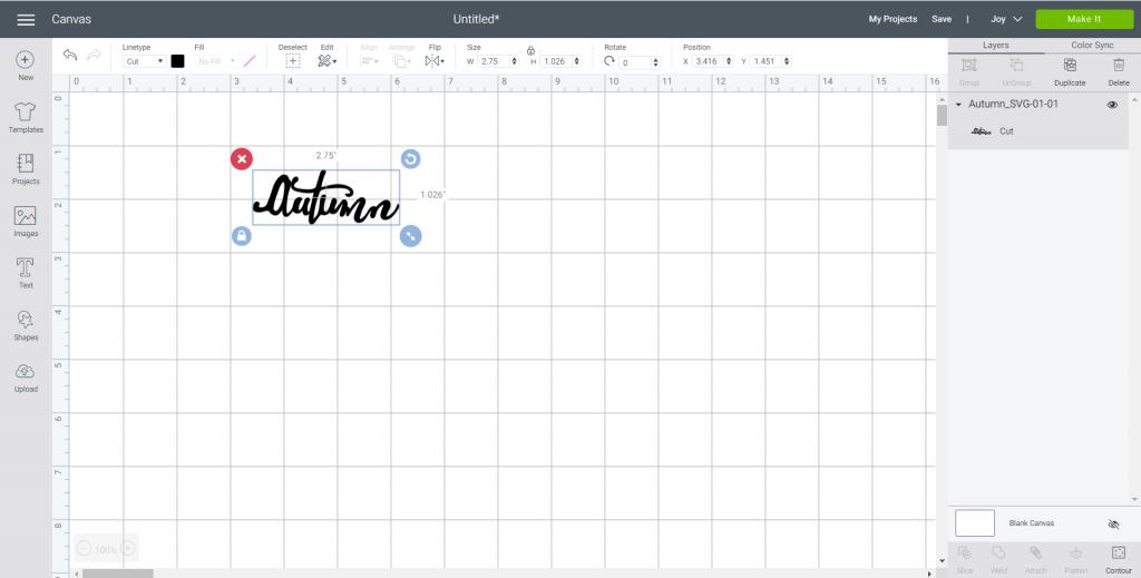 autumn SVG file in design space
