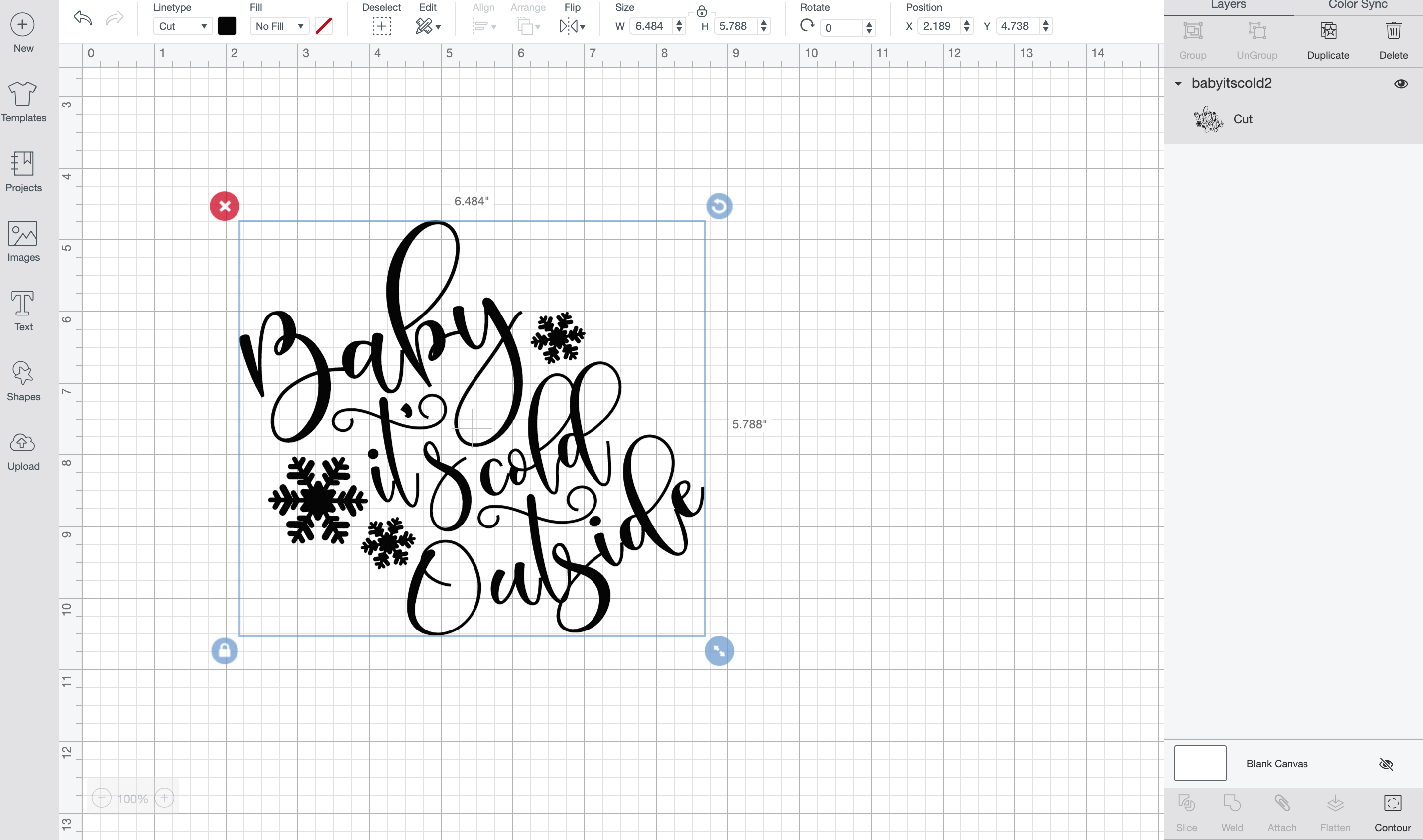 uploading svg file to cricut