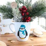 penguin holiday mug