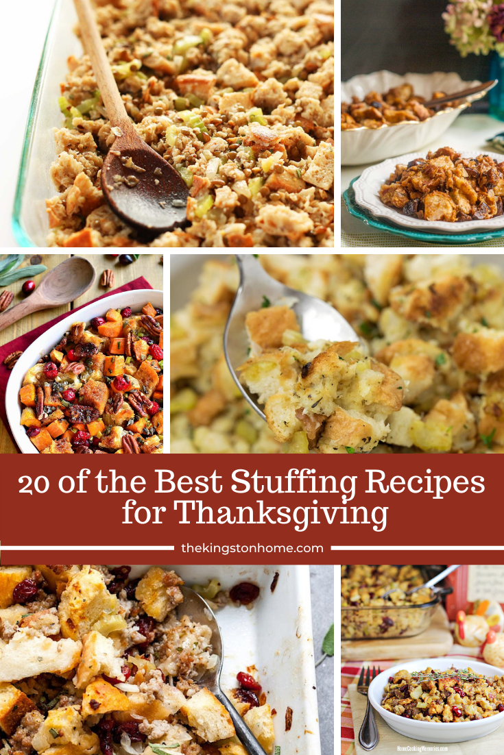 20 of the Best Stuffing Recipes for Thanksgiving - The Kingston Home: We've got a roundup of 20 of the Best Stuffing recipes for your Thanksgiving table, or any time of year! Whether you're tired of the same old thing year after year, or making Thanksgiving dinner for the first time we've got something for everyone! via @craftykingstons