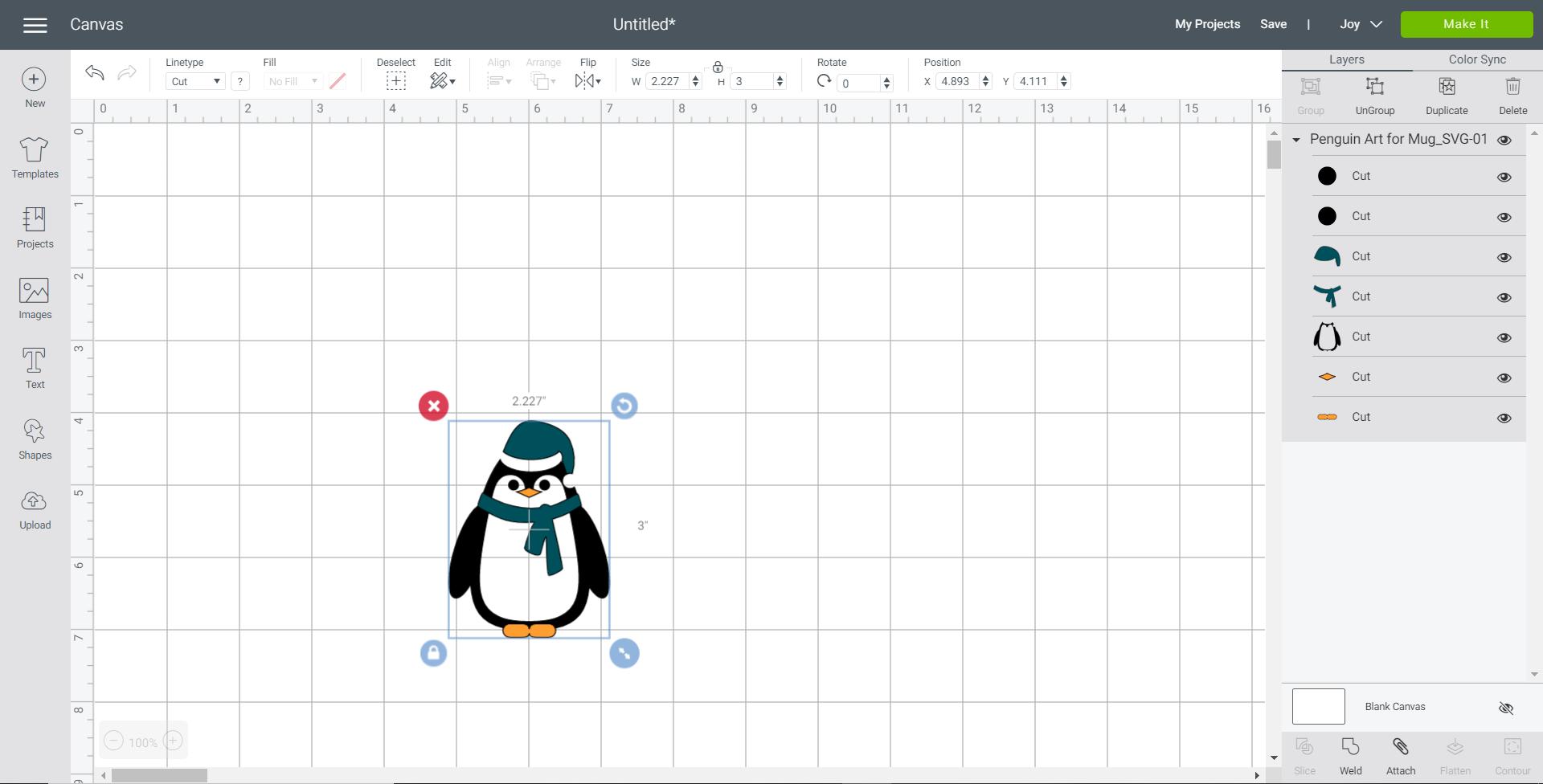 penguin svg in cricut design space