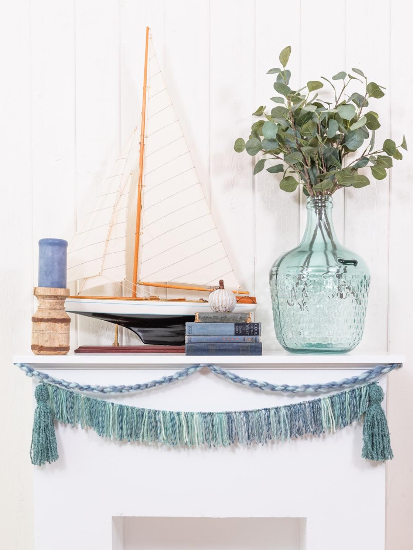 tassel garland for shabby chic coastal home
