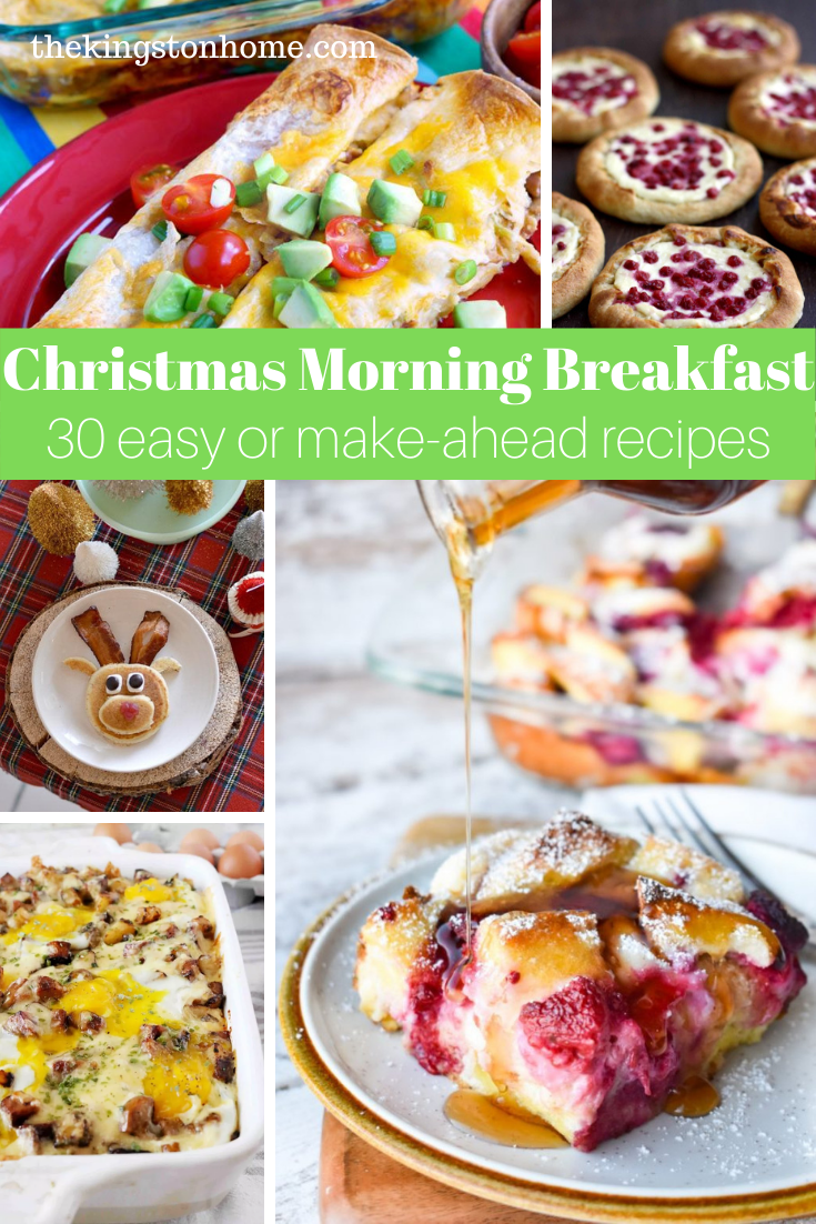 30 Christmas Morning Breakfast Ideas - The Kingston Home: Looking for an easy Christmas morning breakfast? From sweet to savory, kid-friendly to fancy, we've got 30 easy to make breakfast recipes for Christmas morning! via @craftykingstons