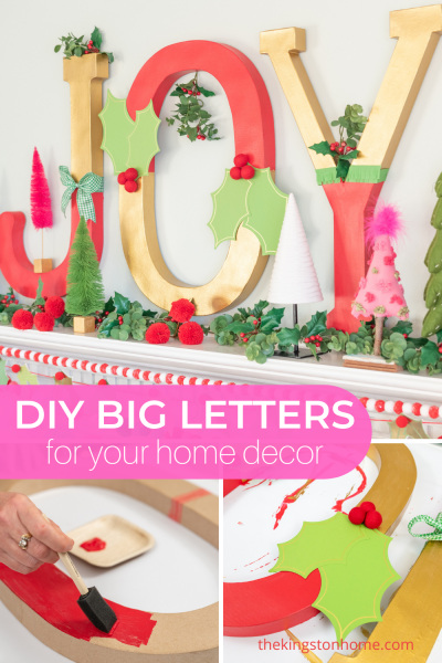 DIY Big Letters for Your Home Decor - The Kingston Home