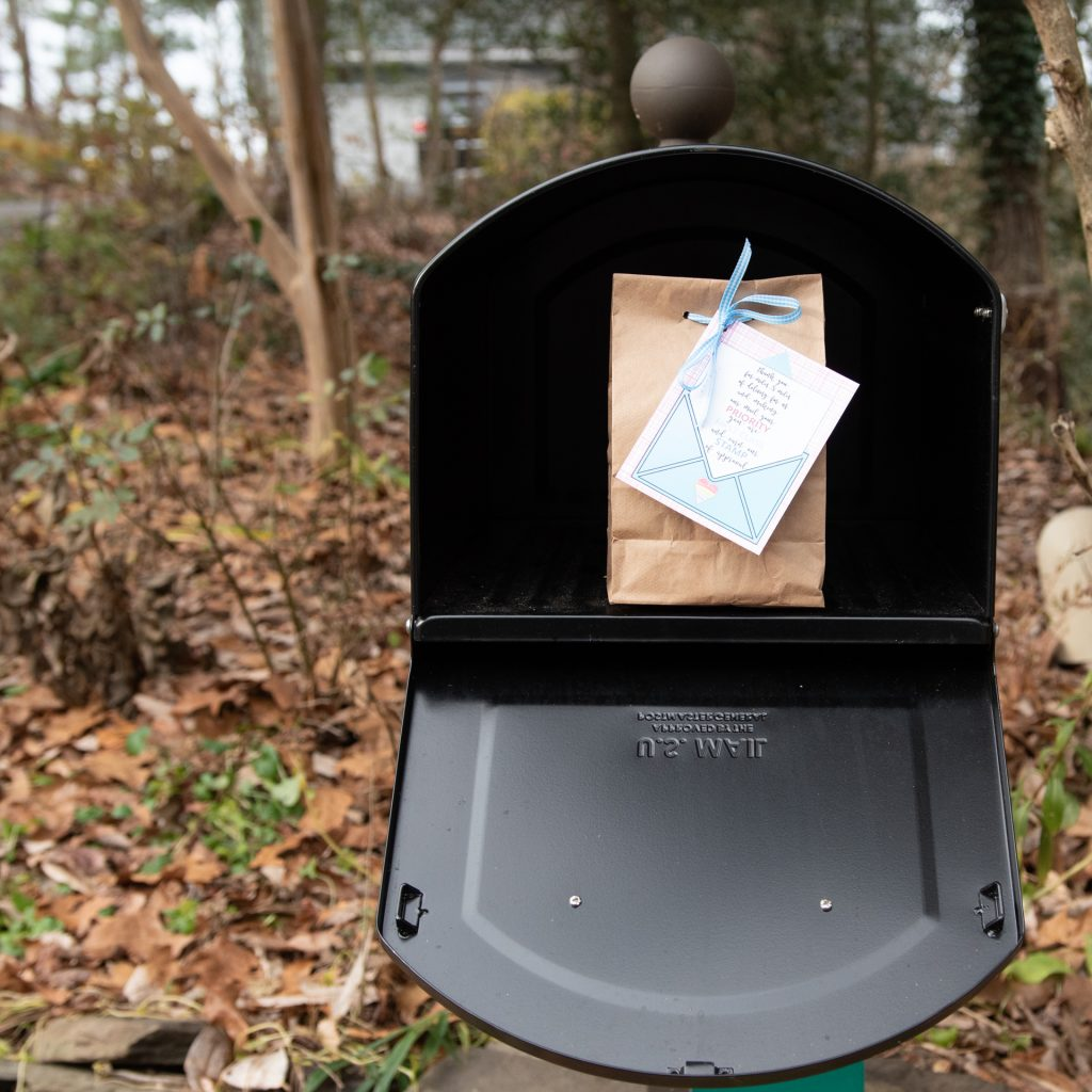 package in mailbox