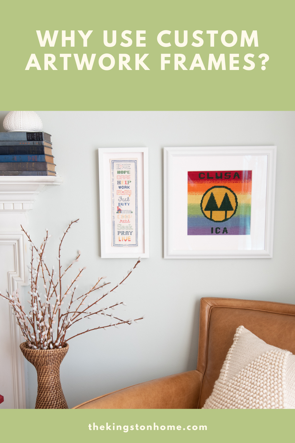 WHY USE CUSTOM ARTWORK FRAMES - The Kingston Home: I love inexpensive frames. New ones, antique ones, painted one, wood ones – the list goes on! Frames have always been my go-to for home décor because they are an easy way to tie a room together. There are times though when you want to display something precious – and custom artwork frames are so important! via @craftykingstons
