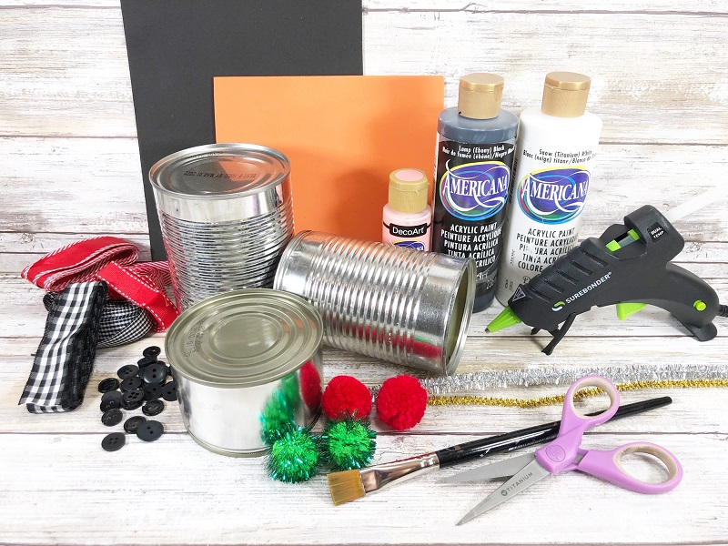 tin can supplies for kids craft project