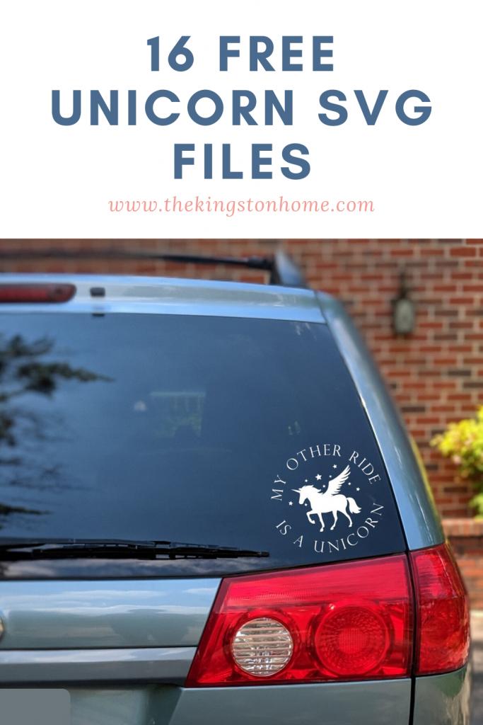 16 Free Unicorn SVG Files - The Kingston Home