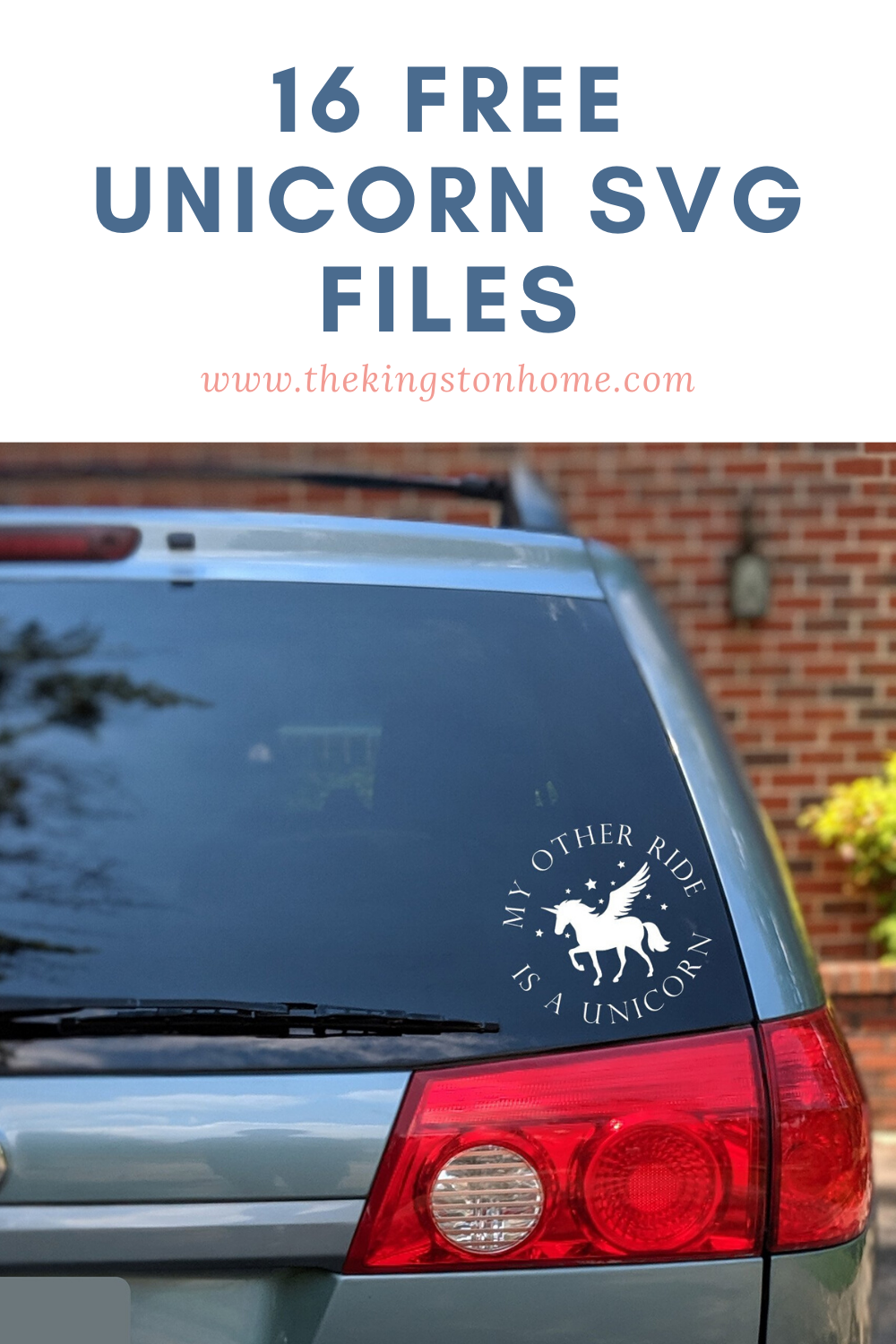 16 Free Unicorn SVG Files - The Kingston Home: Looking for a little magic in your life? How about 16 FREE unicorn SVG files! Perfect for birthday parties, summer tees, or just for fun - who can resist rainbows and sparkles and mythical creatures? via @craftykingstons