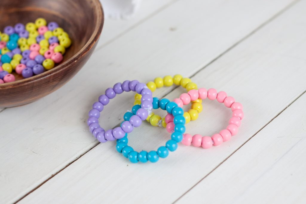 colorful beaded napkin rings