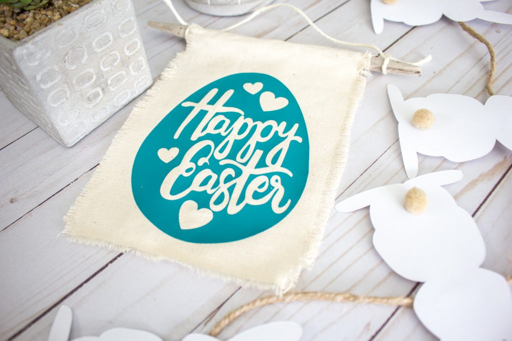 fabric Happy Easter egg banner