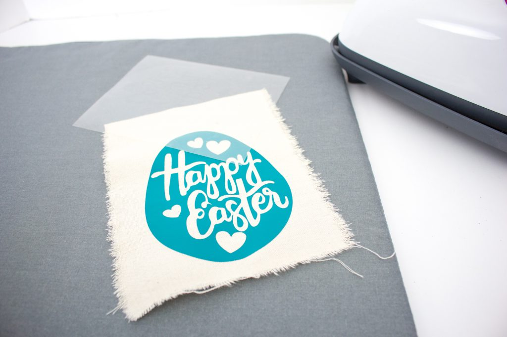 mini Easter banner on Cricut EasyPress mat