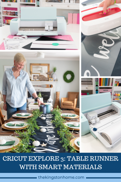 CRICUT EXPLORE 3 TABLE RUNNER WITH SMART MATERIALS - The Kingston Home